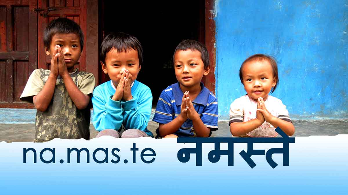 Namaste Namaskar Greetings Archaic Nepal