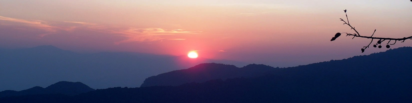 Stunning sunset caught from Nagarkot