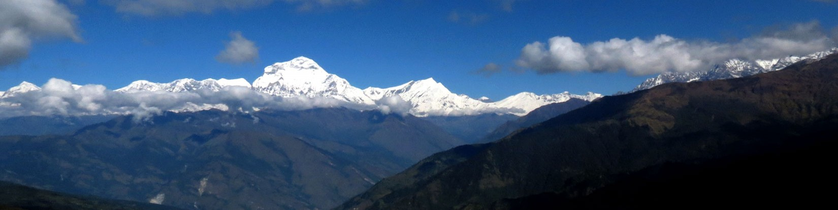 Dhaulagiri Range seen from Poon Hill (3120m)