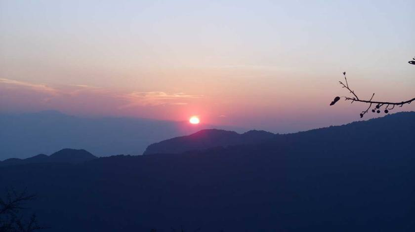 Mesmerizing sunrise at Nagarkot