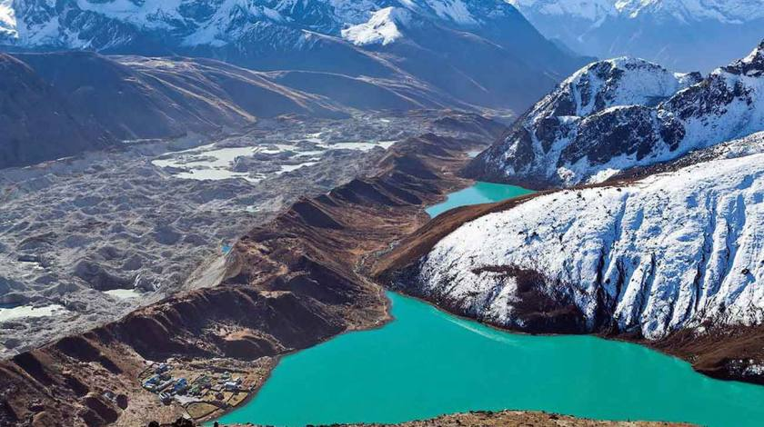 Second and Third Lake of Gokyo Valley