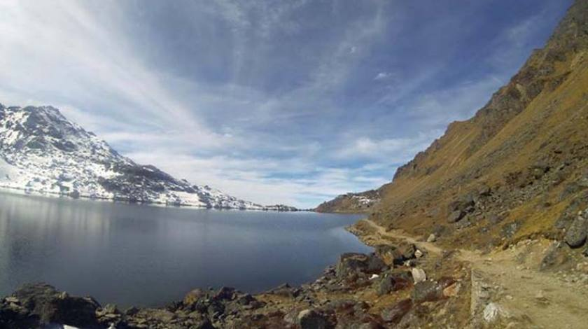 Walk through the Holy Lake of Gosaikunda!