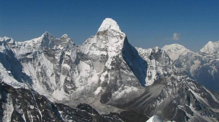 View seen from Island Peak Summit