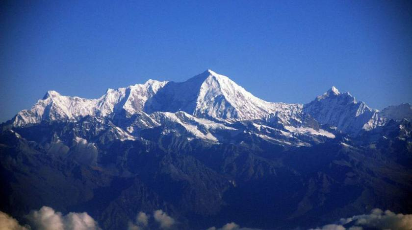 Beautiful Himalayas on sight during a mountain flight