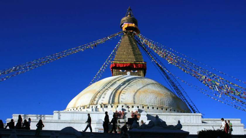 Buddhist Shrine Boudanath Stupa at Kathmandu