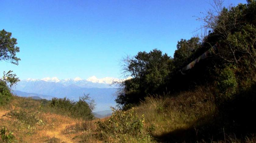 Langtang Range seen on the way to Nagarkot from Chisapani
