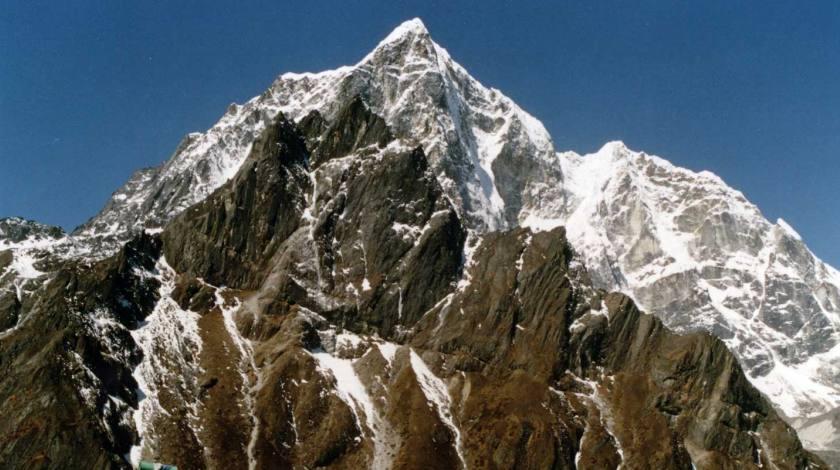 Mount Lobuche seen during walk from Dingboche