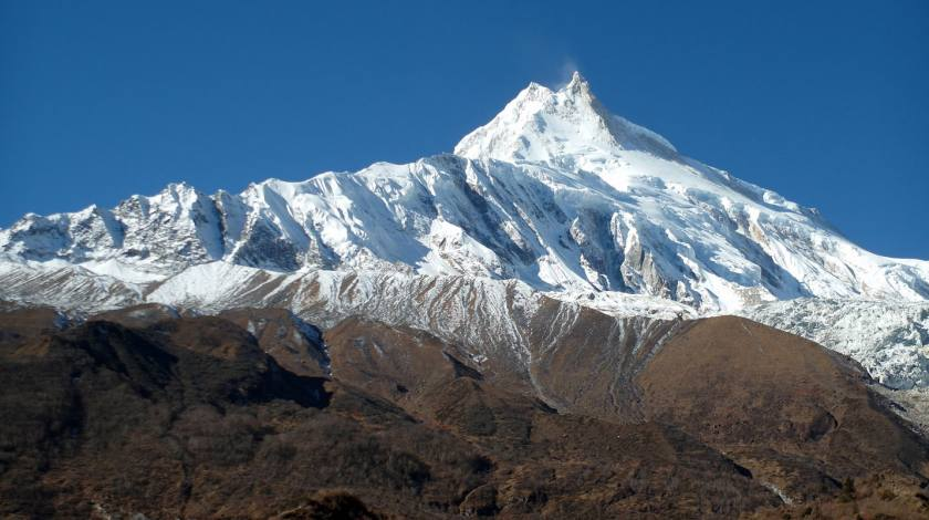 World eighth highest peak Mount Manaslu (8163m)