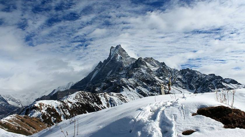 Mount Fishtail seen from Mardi Himal Base Camp