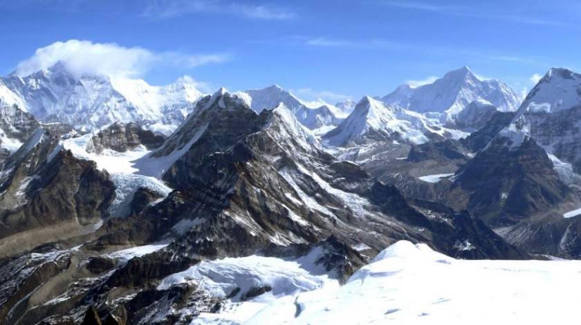 World Highest Himalayas seen from Mera Peak Summit