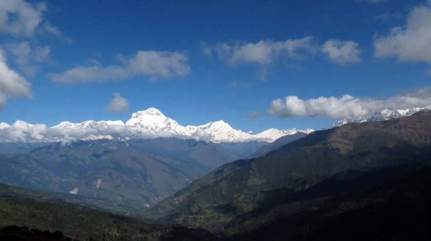 Feels like watching majestic Dhaulagiri range all day long!