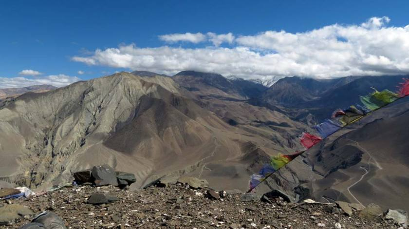 Escape to the beauty of barren landscapes of Mustang!