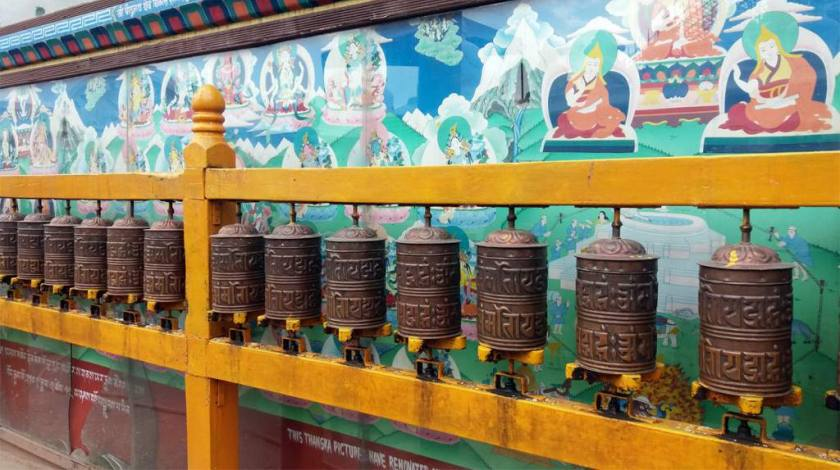 Buddhist Prayers Wheels at Boudanath Stupa