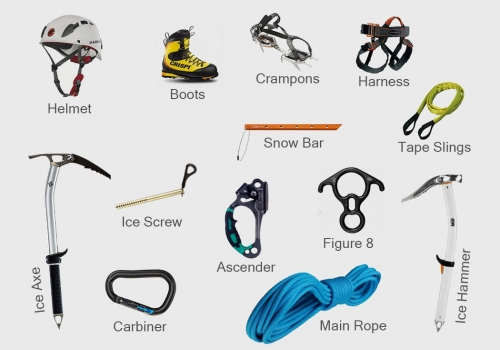 13 Necessary Equipment for Peak Climbing in Nepal