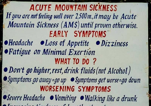 Combating High Altitude Sickness