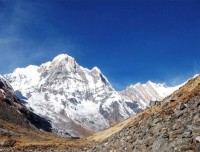 Annapurna range on the way to ABC