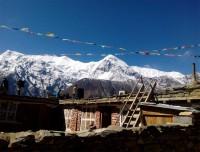 Annapurna range seen from Tenki Manang
