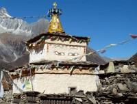 Buddhist Chortens on trails of Manaslu