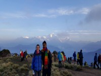 Captured array of mountain ranges at Poon Hill