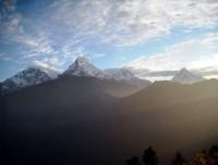 Mt Barah Shikhar adn Annapurna Range from Poon Hill