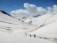 Snowy Pass at Upper Dolpo