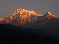 Sunrise atop Annapurna South and Hiuchuli