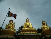Three Statues of Buddha at Swayambu