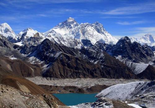 Majestic Everest and Gokyo Lake from Renjo La Pass