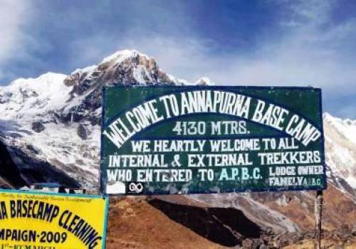 Welcome to Annapurna Base Camp