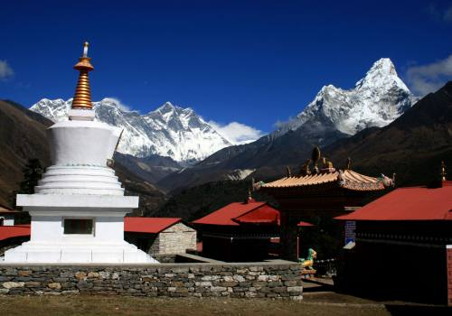 Where culture and mountain meet at Tyangboche!