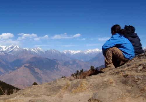 Staring Langtang Himalayan Range at Eye Level