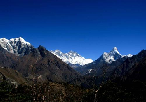 Panoramic Everest Range and Ama Dablam